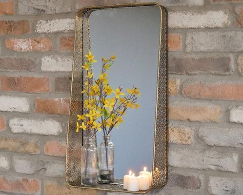 Vintage Gold.Mirror Shelf