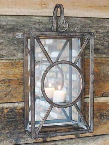 Glass Wall Candle Holder