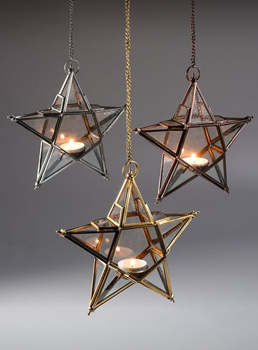 Recycled Metal Hanging Stars