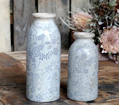 Vintage French Floral Vases