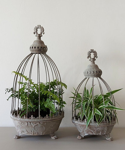 Rustic Caged Planters - Two sizes available
