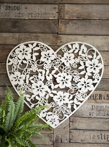 Flower Heart Plaque