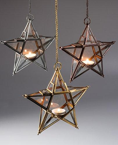 Hanging Star Glass Lantern