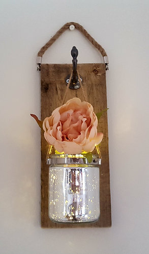 Rustic Wall Decor (pink peoni)