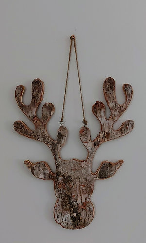 Hanging Birch Bark Moose Head
