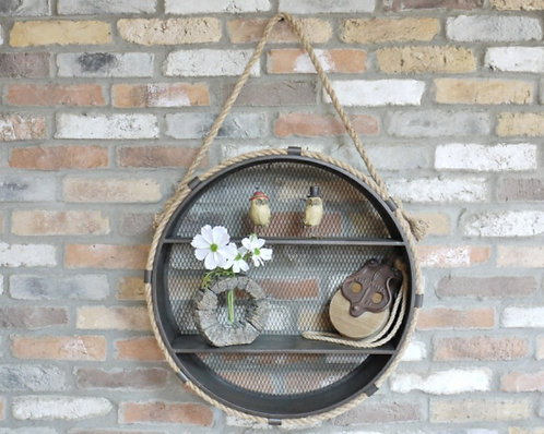 Industrial Circle Shelves