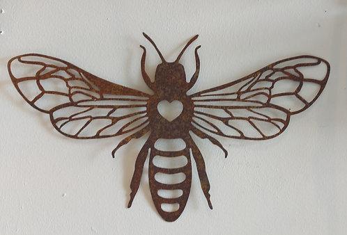 Metal Wall Bee