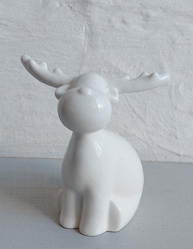 Sitting Porcelain Reindeer