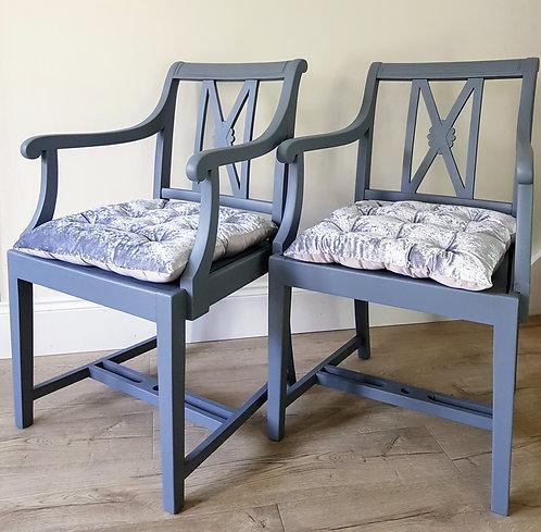 Pair of Hardwood Chairs