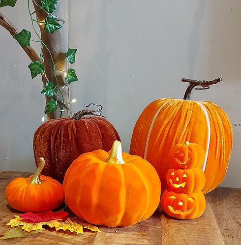 Velvet Pumpkins - various sizes