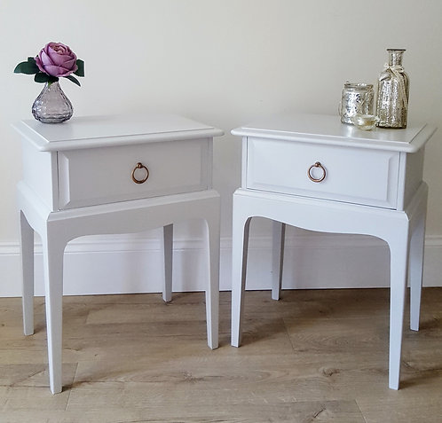 Pair of Stag Bedside Tables