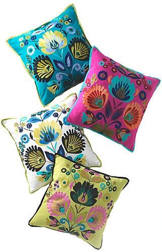 Alankaar Cushion with crewel embroidery