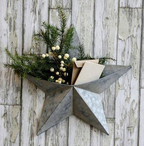 Antique Zinc Wall Star