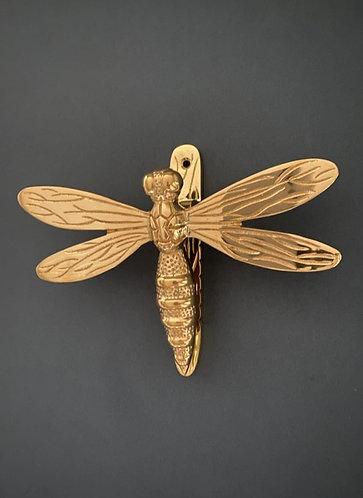 Brass Dragonfly Door Knocker- Brass Finish