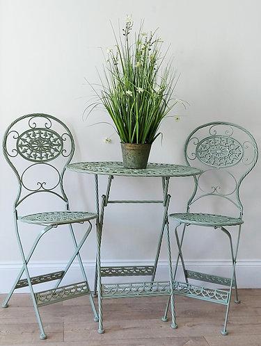 Garden Bistro Set - sage green