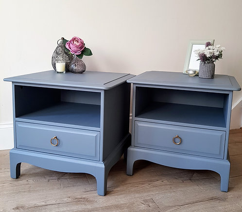 Stag Bedside Cabinets (Pair)