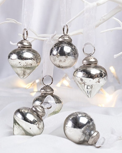 Handmade Antique Silver Finish Decorations