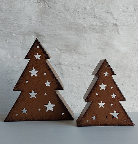 Rust Effect Tealight Holder- Two sizes available