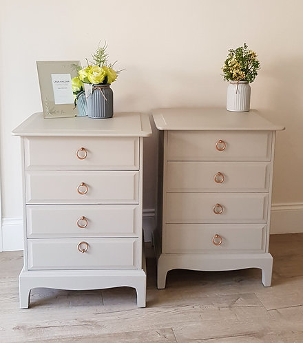 Tall Stag Bedside / Drawer Units