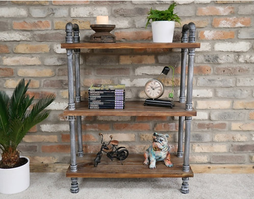 Rustic Pipe Shelves