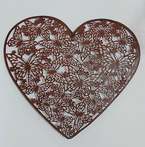 Heart Butterfly Wall Plaque