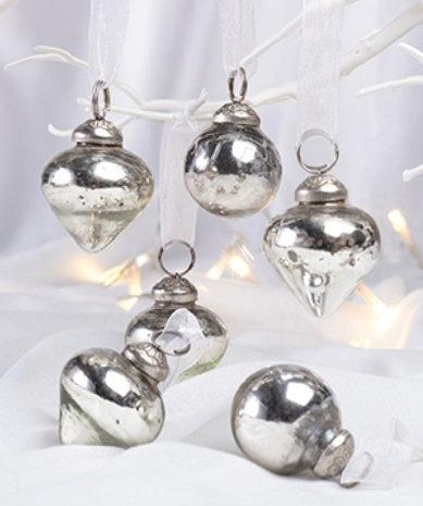 Antique Silver Handmade Baubles
