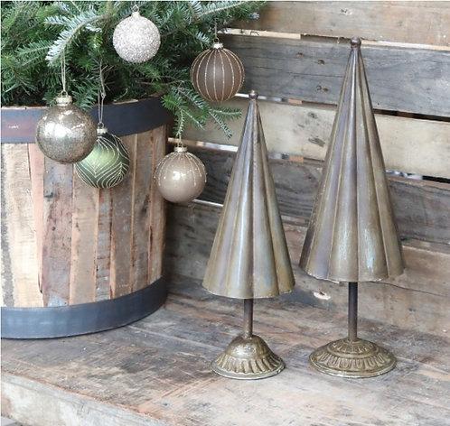 Large Vintage Brass Christmas Tree