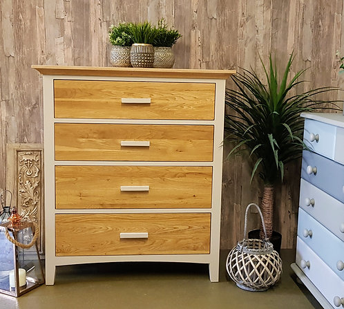 Tall Solid Wood Drawer Unit