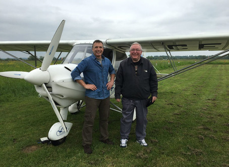 HUGH'S FIRST SOLO FLIGHT AT 71 YEARS YOUNG