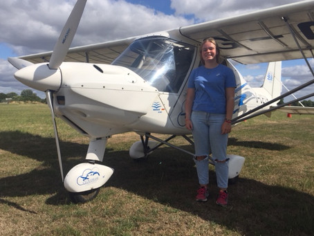 FIRST SOLO FLIGHT FOR 16 YEAR OLD EVE PRIOR