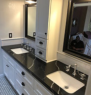 Custo elegant bathrom remodel