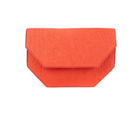 Maravillas Bags, Pinatex, vegan satchel bag, Amsterdam, satchel bag, red, handcrafted in Spain, handmade in Mallorca
