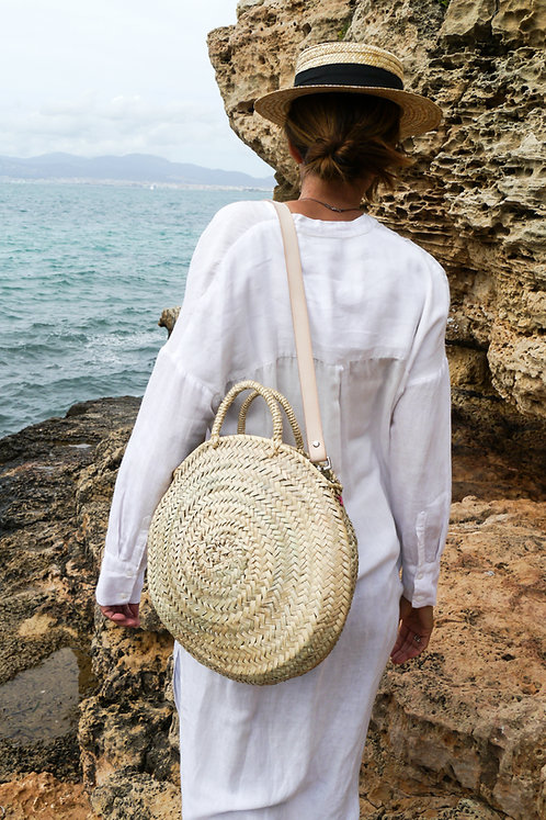 Maravillas Bags, Menorca, traditional straw bag, beach bag, natural, handcrafted in Spain, handmade in Mallorca