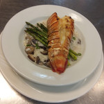 lobster tail with risotto.JPG
