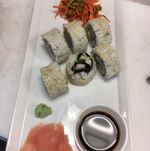 california rolls with edamame salad.JPG