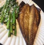 broiled mackerel dinner.JPG