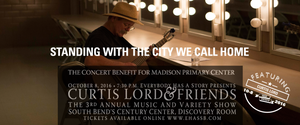 Curtis Lord will perform with a stunning lineup of South Bend musicians 10.8.16