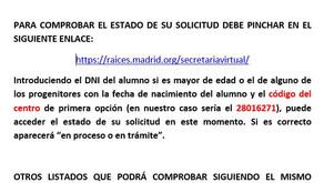Listados Proceso de Admisión Curso 2020-2021