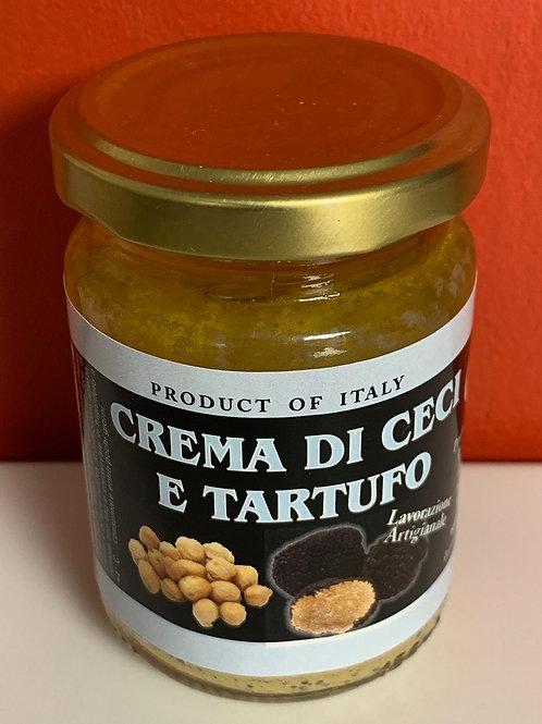 Crème de pois chiches et truffe noire
