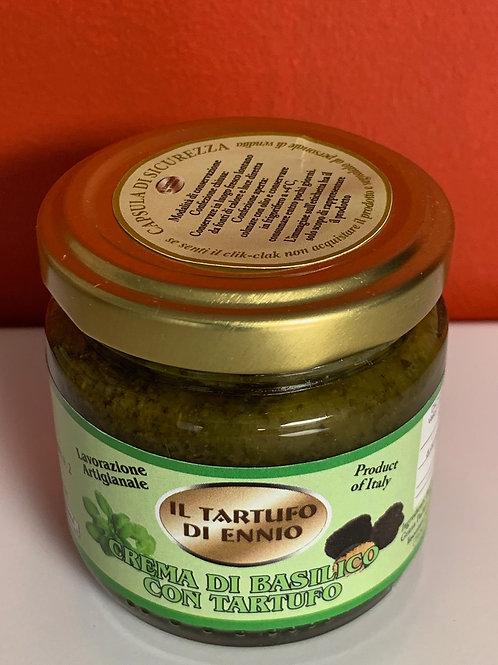 Concassé de basilic et truffe noire
