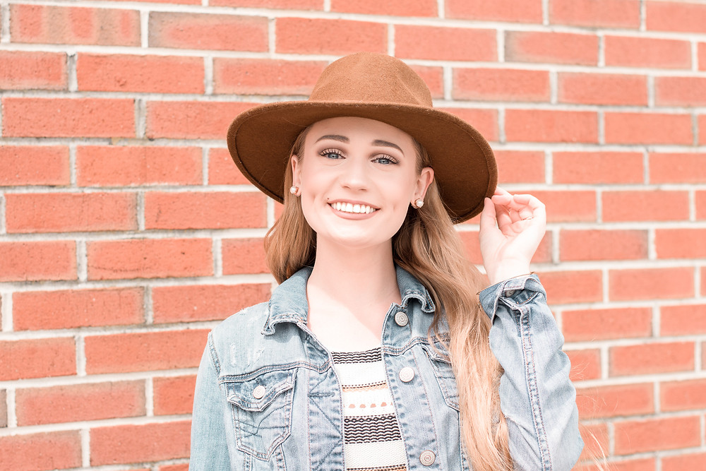 April Heil, The Heil Style, Fashion, blog, fashion blogger, Francesca's Boutique, boutique, summer style, summer fashion, summer living, country living, rustic, hat, Panama hat, jean jacket outfit, mules, how to wear mules, Target, Target finds, my target style, target style, how to style, blogging, top fashion bloggers, bloggers to follow now, summer outfits, spring transitional outfits, transitional weather, springtime, spring style, Spring outfit, how to wear hats, Chanel, Chanel classic flap. go green, thrift shop, goodwill, thrift finds, thrifting