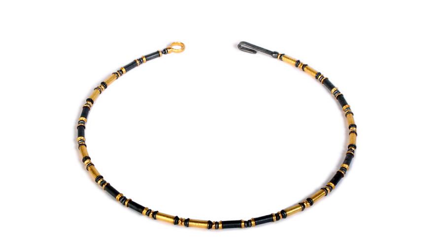 Oxidised Bugle Necklace