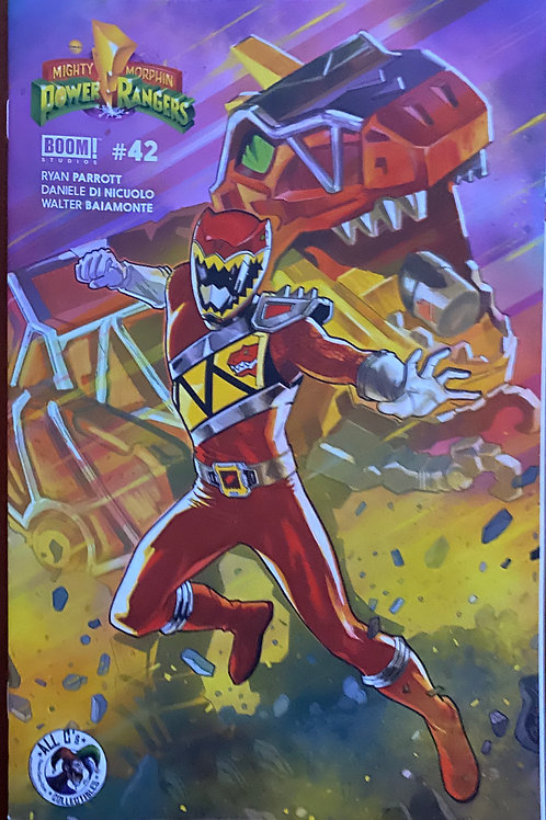 Signed BOOM Issue#42 Dino Charge Variant Cover