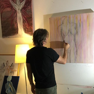 Working on Acrylic and ✏️ #new #art #art