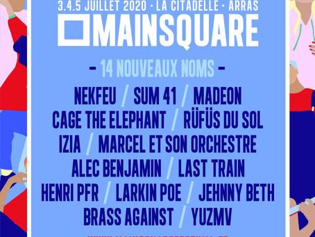 DE NOUVEAUX NOMS POUR LE MAIN SQUARE FESTIVAL 2020