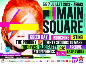 MAIN SQUARE FESTIVAL ARRAS 2013 - PROGRAMMATION DU SAMEDI 6 JUILLET