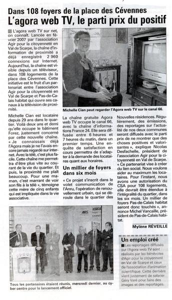 L'Observateur de l'Arrageois du 13 février 2008