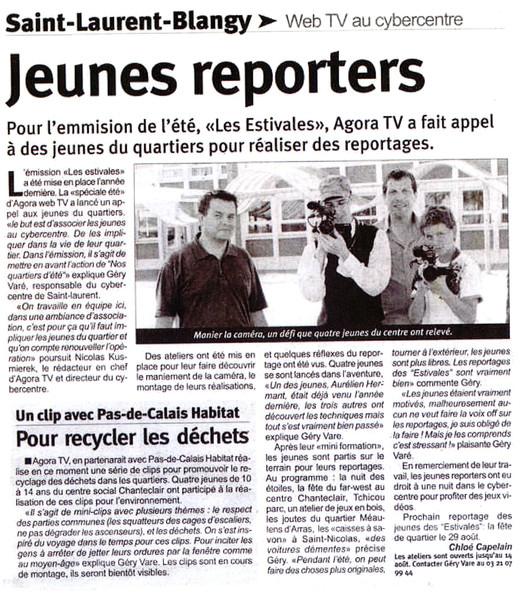 L'Observateur de l'Arrageois du 12 août 2009