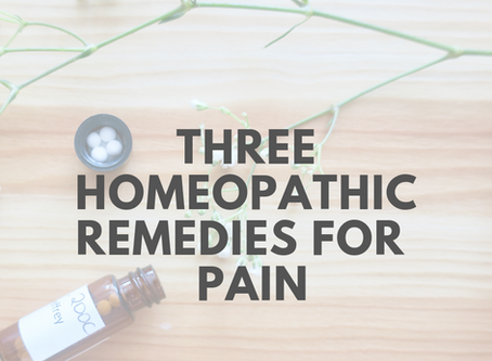 Reducing The Need For Pain-Killers: Three Homeopathic Remedies to Help Manage Your Chronic Pain