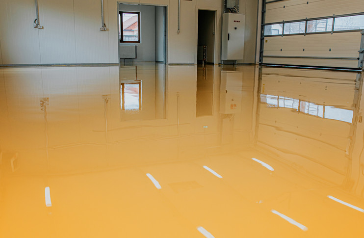 safety yellow solid color epoxy